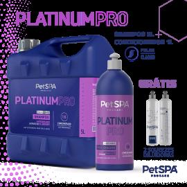 Platinum Pro: Shampoo 5L + Condicionador 1L. GRÁTIS 2 DILUIDORES